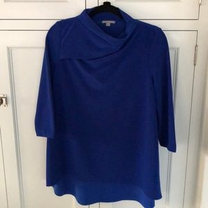 COS Royal Blue Top with Cowl Neck